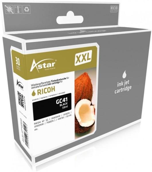 ASTAR AS15141 Tintenpatrone kompatibel mit RICOH GC41 ( 405761 ) 3750 Seiten, Schwarz, XXL (50% Mehr