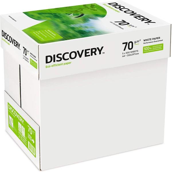 Discovery 70-g/m²-Papier in A4-Format 70 g/m² 5 x Ries 2500 Blatt - 1 x Karton