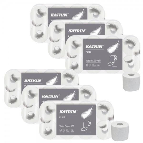 KATRIN Toilettenpapier PLUS 150 soft - 4-lagig 48 Rollen