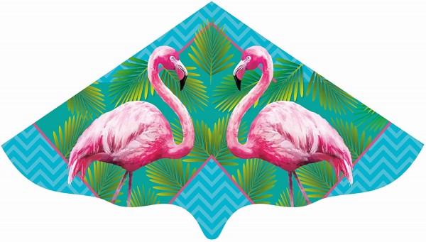 Paul Günther 1108 - Kinderdrachen mit Flamingo Motiv, Einleinerdrachen aus robuster PE-Folie für Kin
