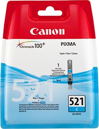 Vorschau: Original Canon CLI-521C für PIXMA iP3600 4600 MP980 cyan