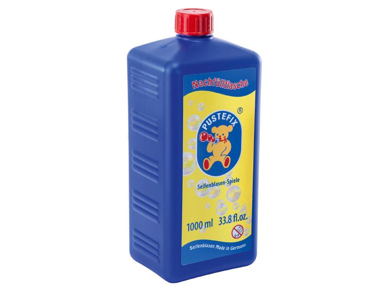 Pustefix – Nachfüllflasche – 1000 ml Seifenblasenflüssigkeit – Seifenblasen – Gebrauchsfertig Gemisc