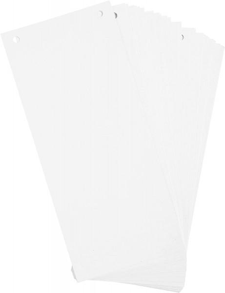 Exacompta 100er Pack Trennstreifen Karton 10,5 x 24 cm Weiß für eine übersichtliche Ablage Ihrer Dok