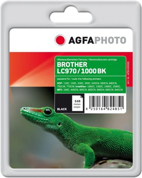 AgfaPhoto Tintenpatrone LC970 (schwarz) kompatibel (für Brother DCP-130C, 150C, Intellifax-1860C, MF