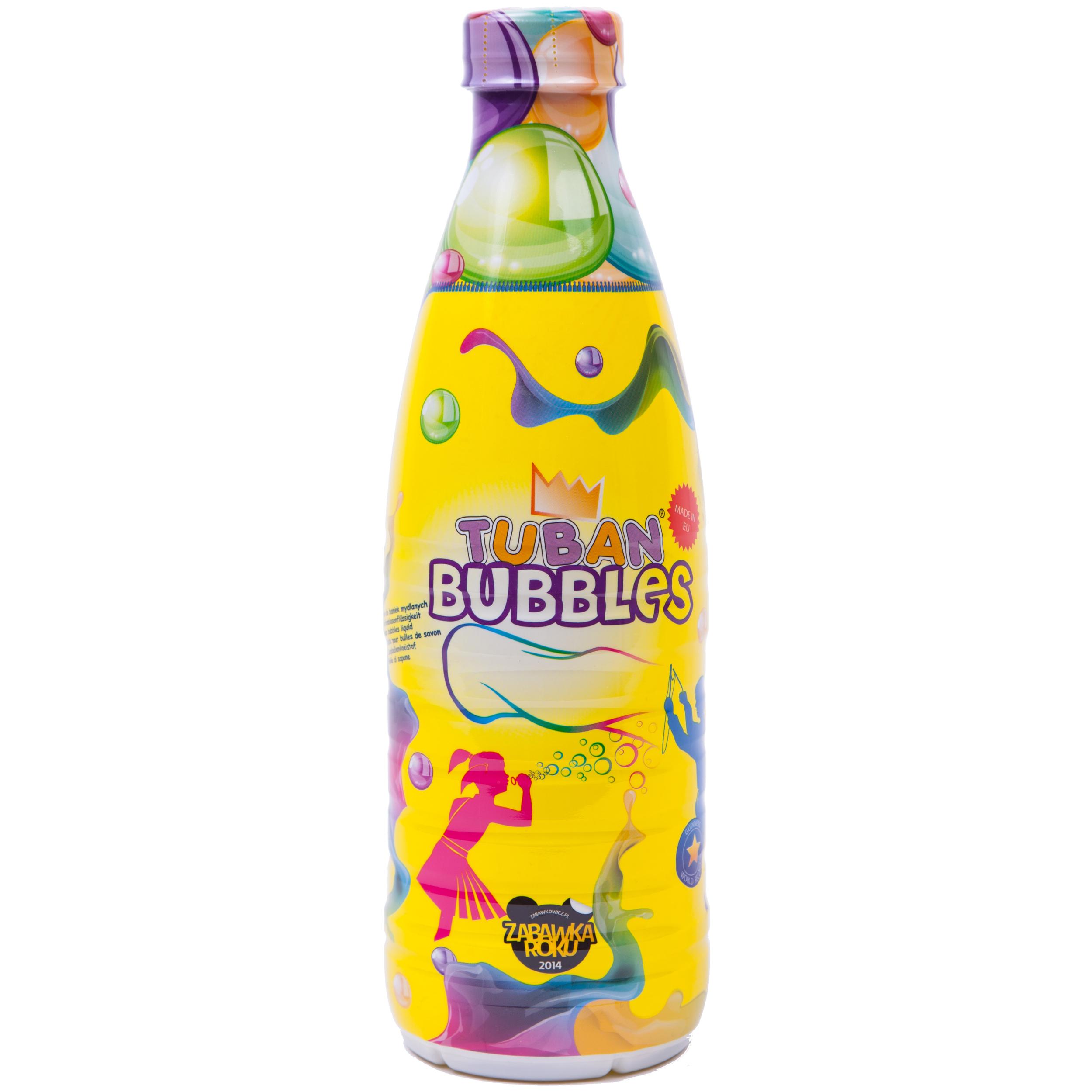 Tuban – Bubbles – Seifenblasenflüssigkeit – 1 Liter – Seifenblasen – Blasen – Flüssigseife – Für kle