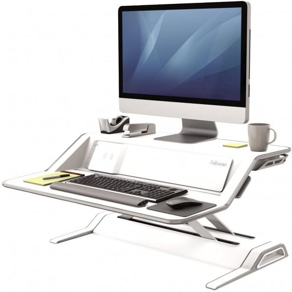 Fellowes Lotus™ Sitz-Steh Workstation - weiß