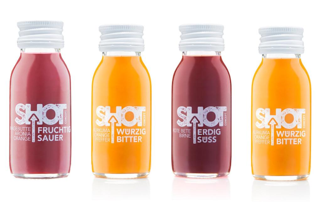 PROBIERSET Shot Concept - Ingwershot (Feurig Scharf) 1x60ml, Hagebutte + Aronia + Orange (Fruchitg S