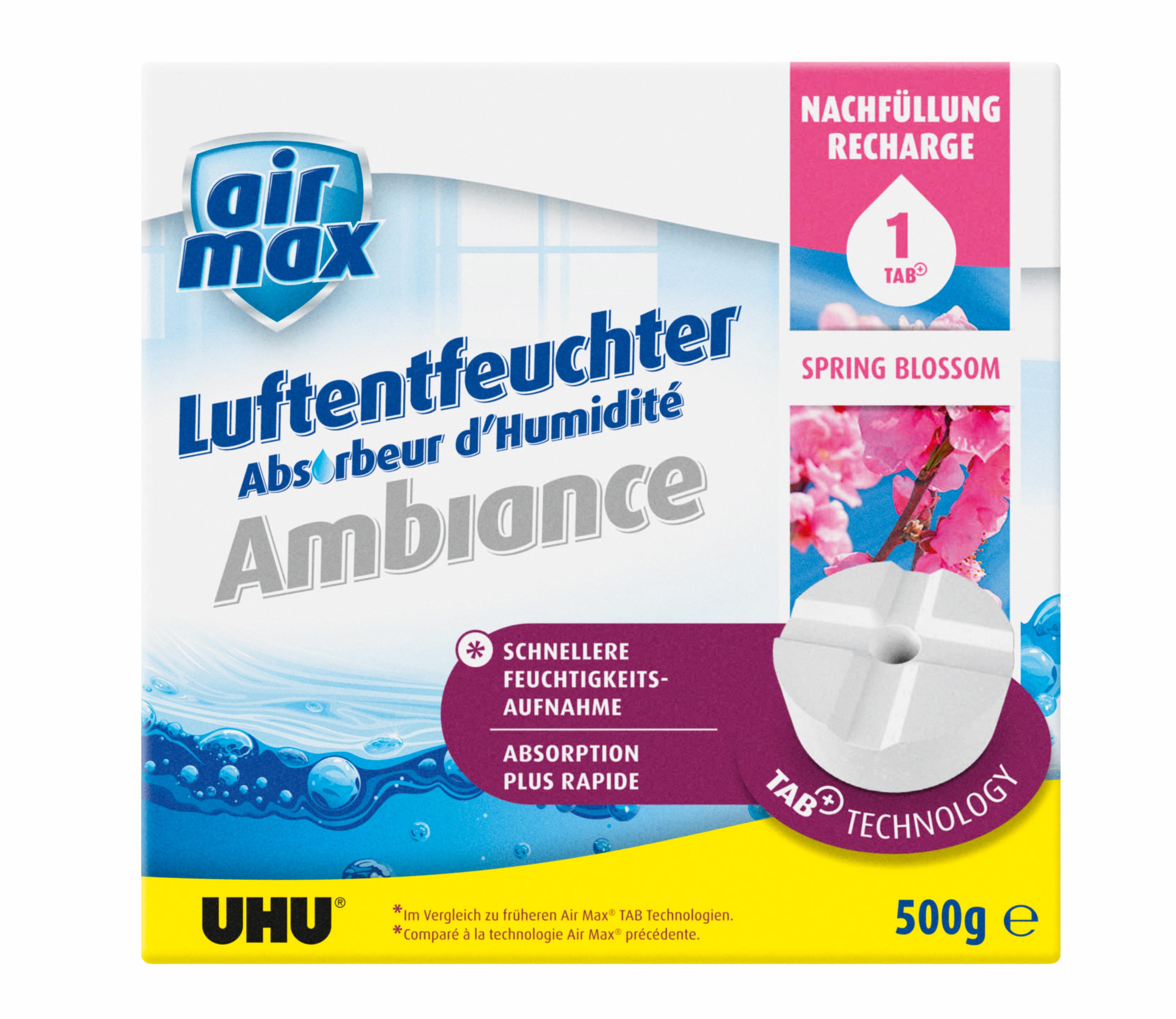 UHU Air Max Nachfüll-Tab für Luftentfeuchter Ambiance Spring Blossom