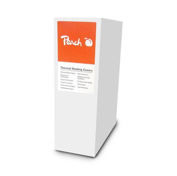 Peach PBT406-08 Thermobindemappe, A4, 120 Blätter, 80 g/m², 80 Stück, weiß & Thermobindegerät DIN-A4