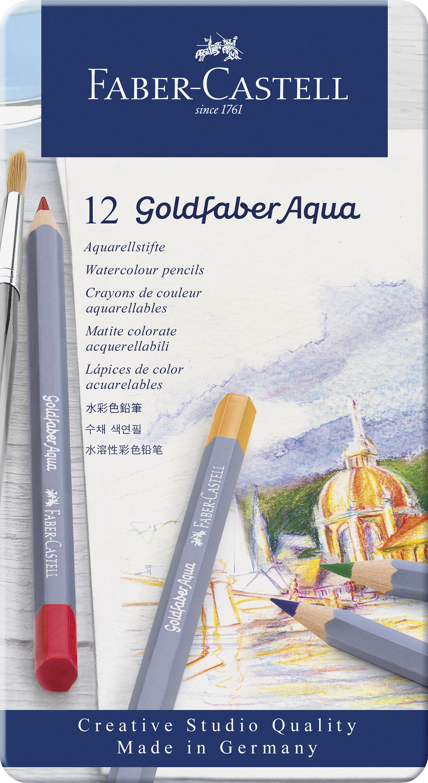Faber-Castell Goldfaber Aqua Farbstifte 12er Metalletui