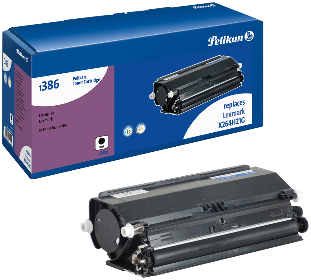 Pelikan Toner 1386 für Lexmark X264H21G X264dn etc. black