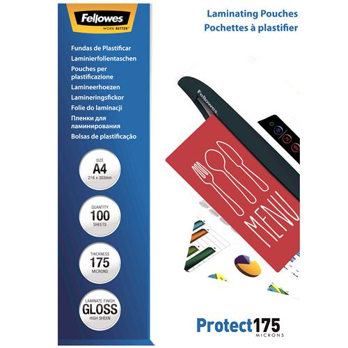 Fellowes Laminierfolien 175mic DIN-A4 - 100 Folien