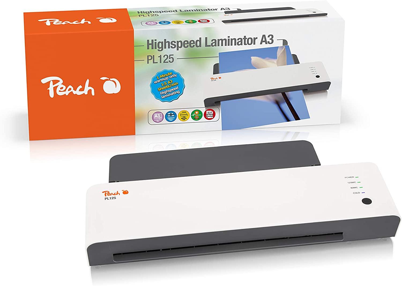 Peach PL125 Laminiergerät DIN-A3| startklar in 1 Minute | 2x125 mic. | 600 mm/min | inkl. 10 Laminie