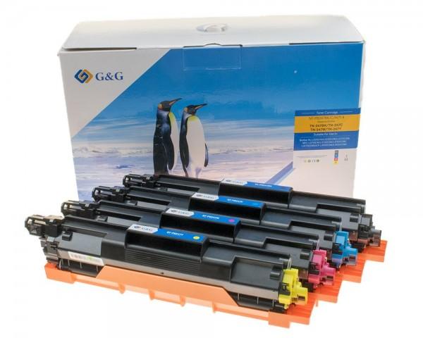G&G Image Toner-Multipack kompatibel zu Brother TN-247 BK / C / M / Y schwarz, cyan, magenta, gelb
