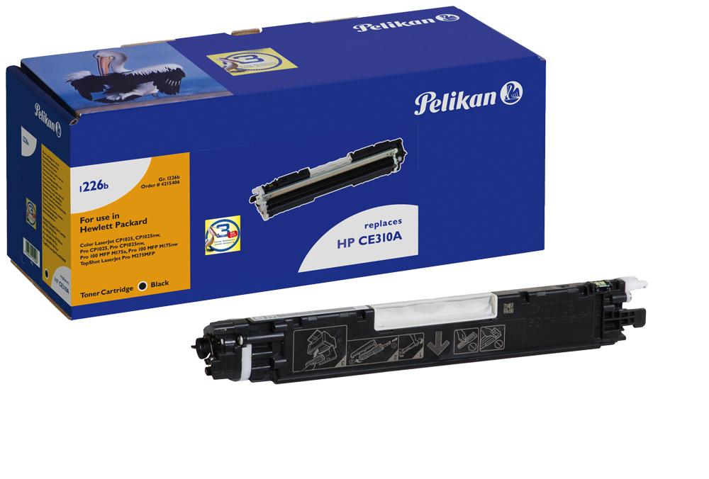 Vorschau: Pelikan Toner 1226 für HP CE310A Color Laserjet CP1025 etc. black