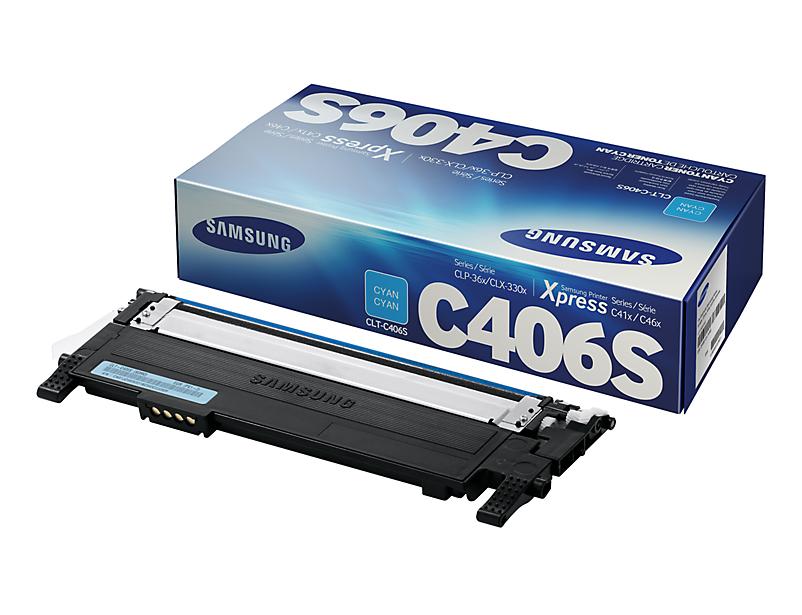 Original Samsung Toner CLT-C406S / ELS für CLP 360 365 etc. cyan
