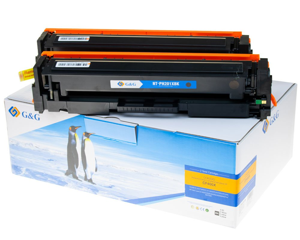 G&G Image XL-Toner -Doppelpack- kompatibel zu HP 201X/ CF400XD Schwarz