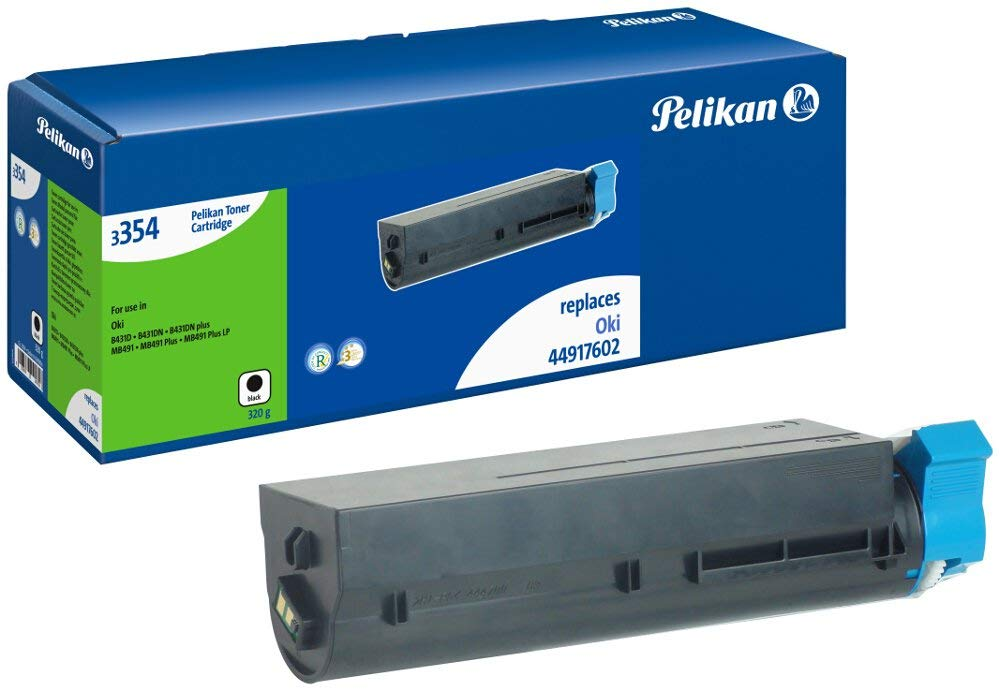 Pelikan Toner ersetzt OKI 44917602, Black, 12000 Seiten