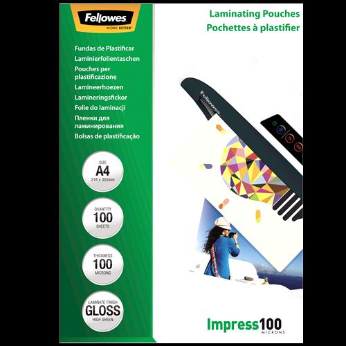 Fellowes Laminierfolien 100mic DIN-A4 - 100 Folien