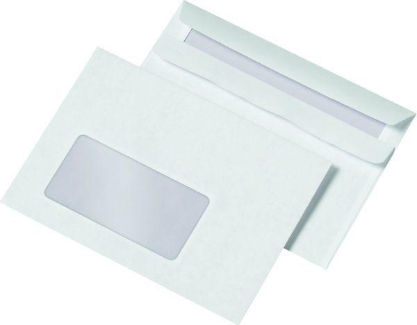 Elepa - rössler kuvert Briefumschläge C6 (162x114 mm), mit Fenster, selbstklebend, 72 g/qm, 1.000 St
