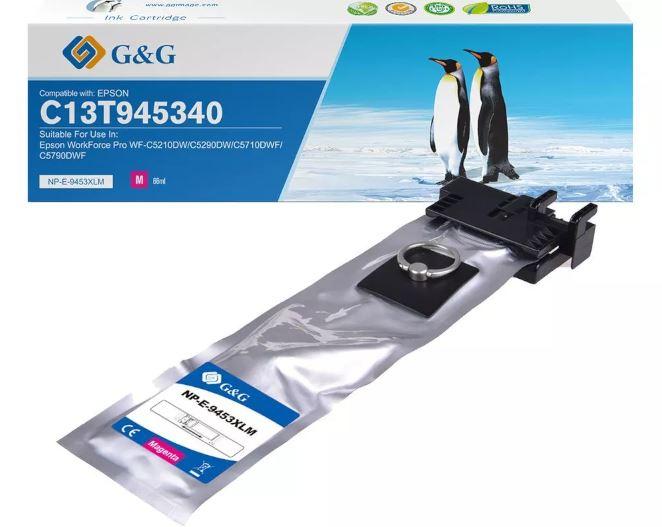 G&G Premium Tintenpatrone kompatibel zu Epson T9453 magenta