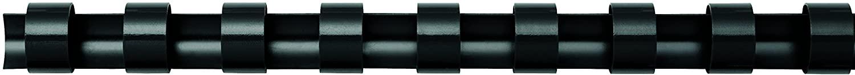Fellowes Binderücken für Plastikbindung, 10 mm Durchmesser, 21 Ringe, für A4 Dokumente, schwarz, Pac