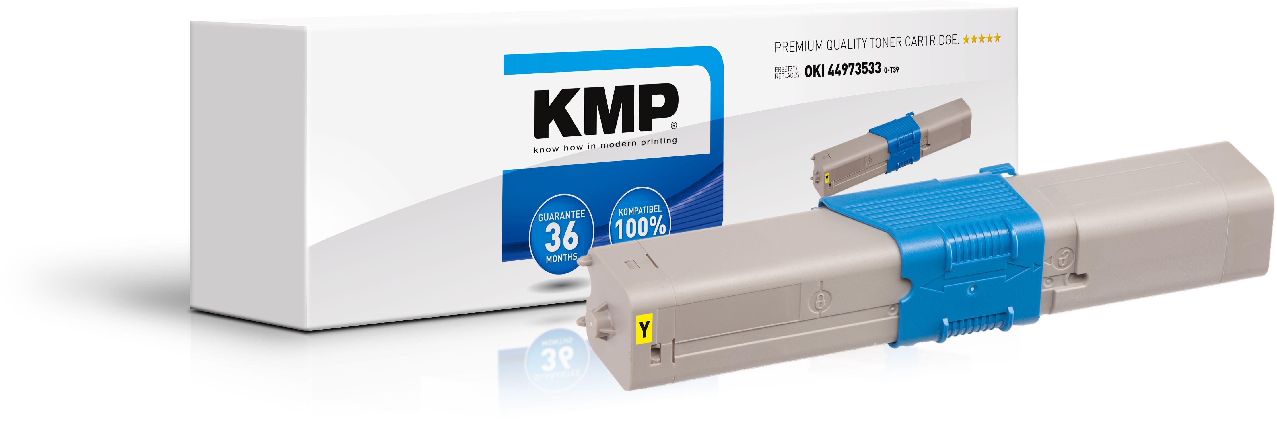 KMP Toner O-T39 für OKI 44973533 C301dn etc. yellow