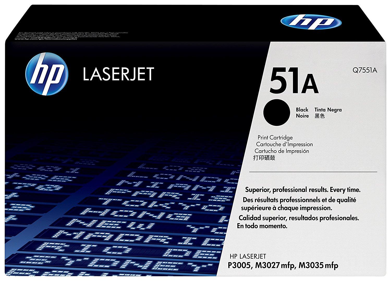 Vorschau: Original HP Toner 51A / Q7551A für LASERJET P3005 N schwarz