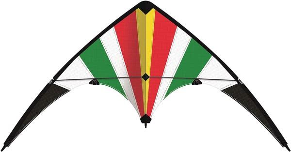 Paul Günther 1082 - Sportlenkdrachen Lucky Loop 100, Drachen für Anfänger, Segel aus reißfestem Rips