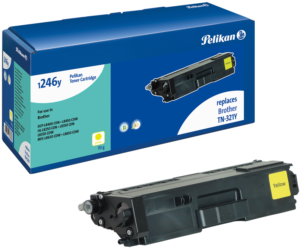 Pelikan Toner komp. zu TN-321Y Brother DCP-L8400 CDN etc. yellow