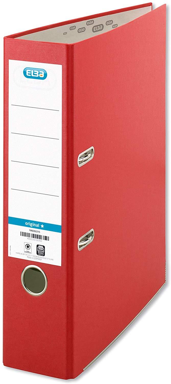 ELBA 100202218 Ordner smart Original Papier 8 cm breit DIN A4 Rot