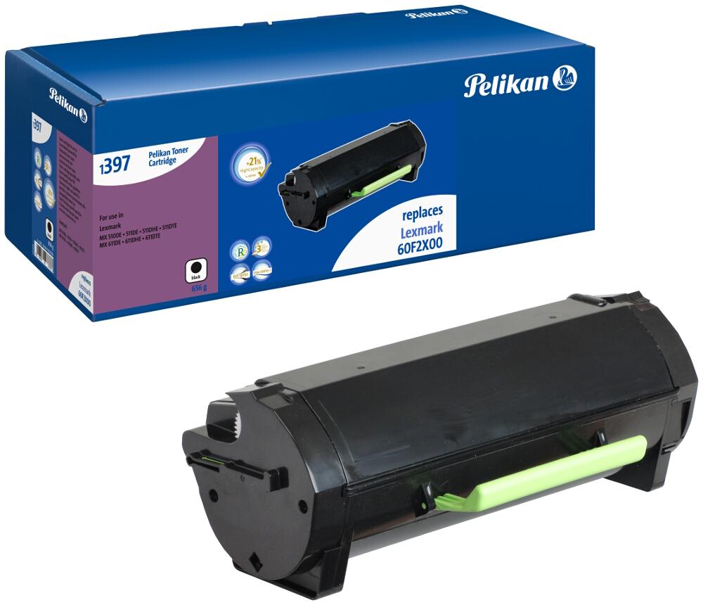 Pelikan Toner 1397 komp. zu 60F2X00 Lexmark MX510 de etc. black