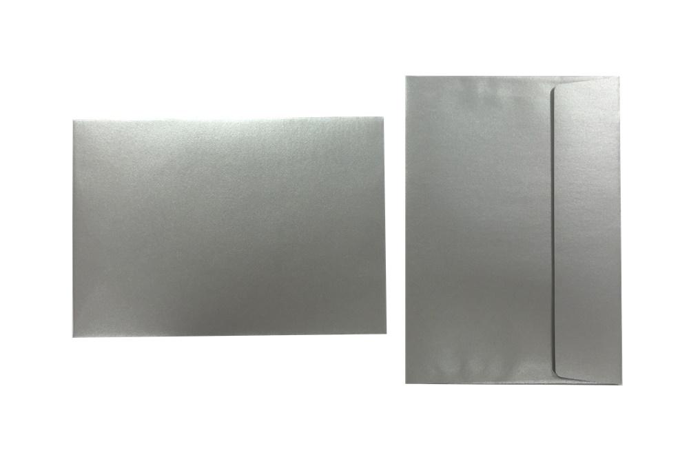 Inapa Shyne Umschläge C5 Silver 120g/m² 100 Stück