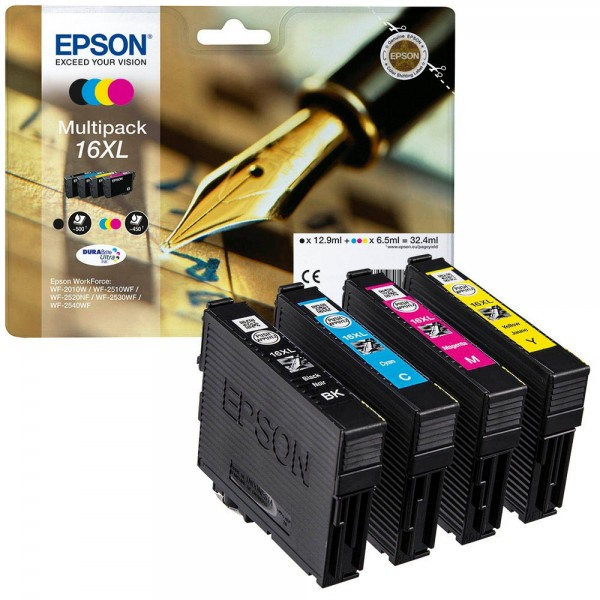 Original Epson Multipack T1636 No.16XL WF 2010 bk / c / m / y