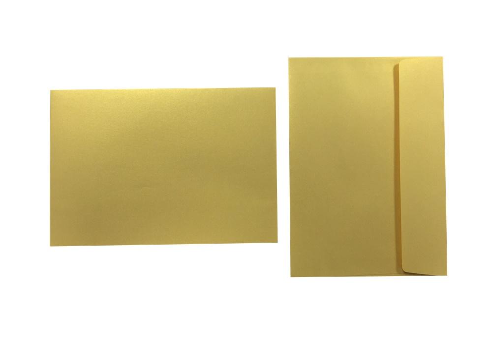 Inapa Shyne Umschläge C5 Golden Yellow 120g/m² 100 Stück