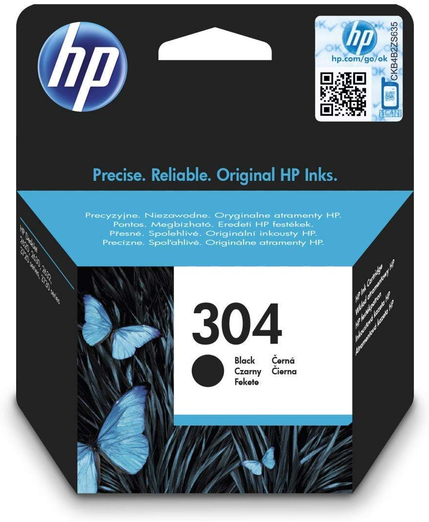 HP 304 schwarz Original Druckerpatrone N9K06AE Tintenpatrone