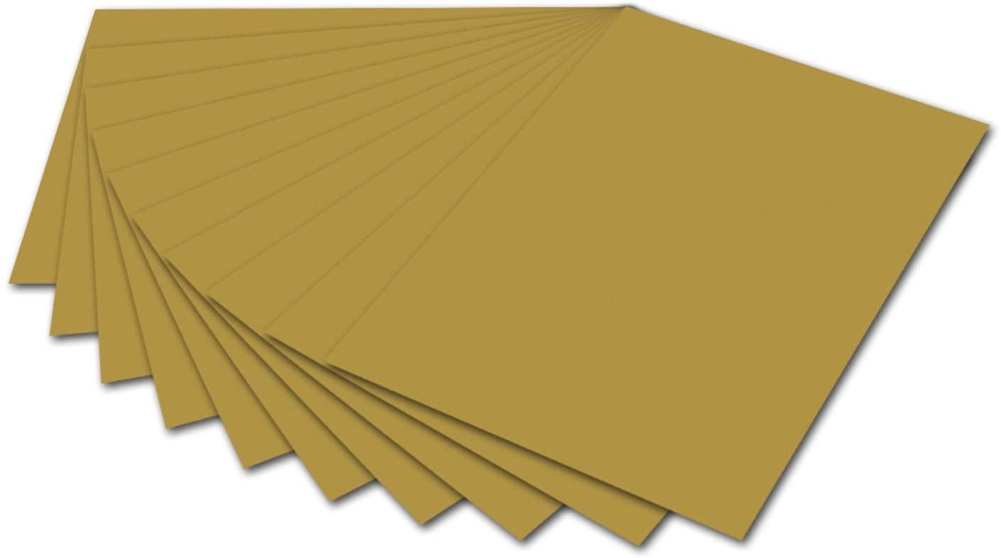 folia 6165 - Fotokarton Gold, 50 x 70 cm, 300 g/qm, 10 Bogen - zum Basteln und kreativen Gestalten v