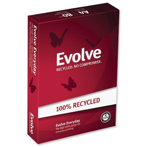 Evolve Everyday Kopierpapier 100% recycling A4 weiß 80g/m² 500 Blatt weiß