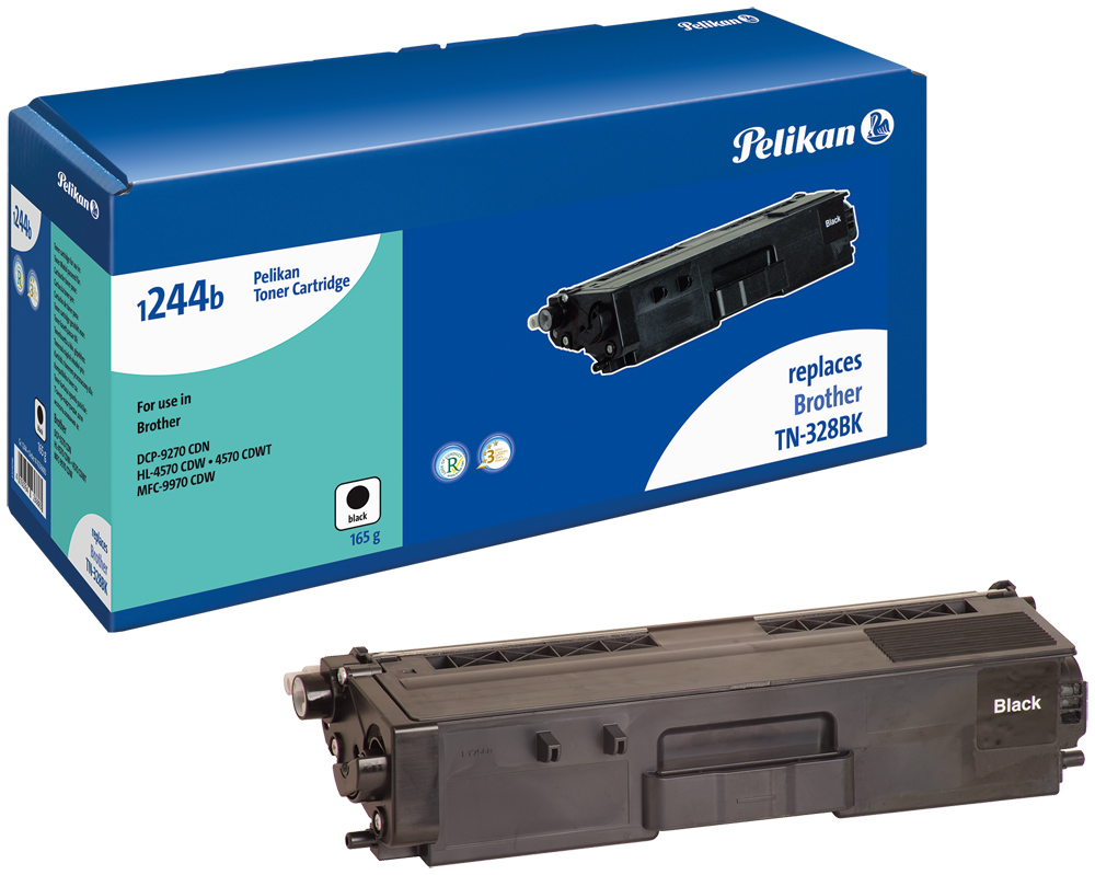 Pelikan Toner komp. zu TN-328BK Brother DCP-9270 CDN etc. black