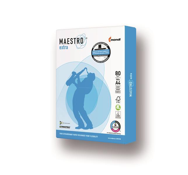100.000 Blatt Mondi Maestro Extra Premium 80g/m² DIN-A4 weiß TrioTec