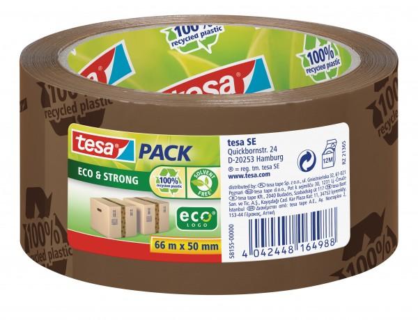 GP: 0,05 EUR/m tesa tesapack Eco & Strong 66m x 50mm braun ( bedruckt )