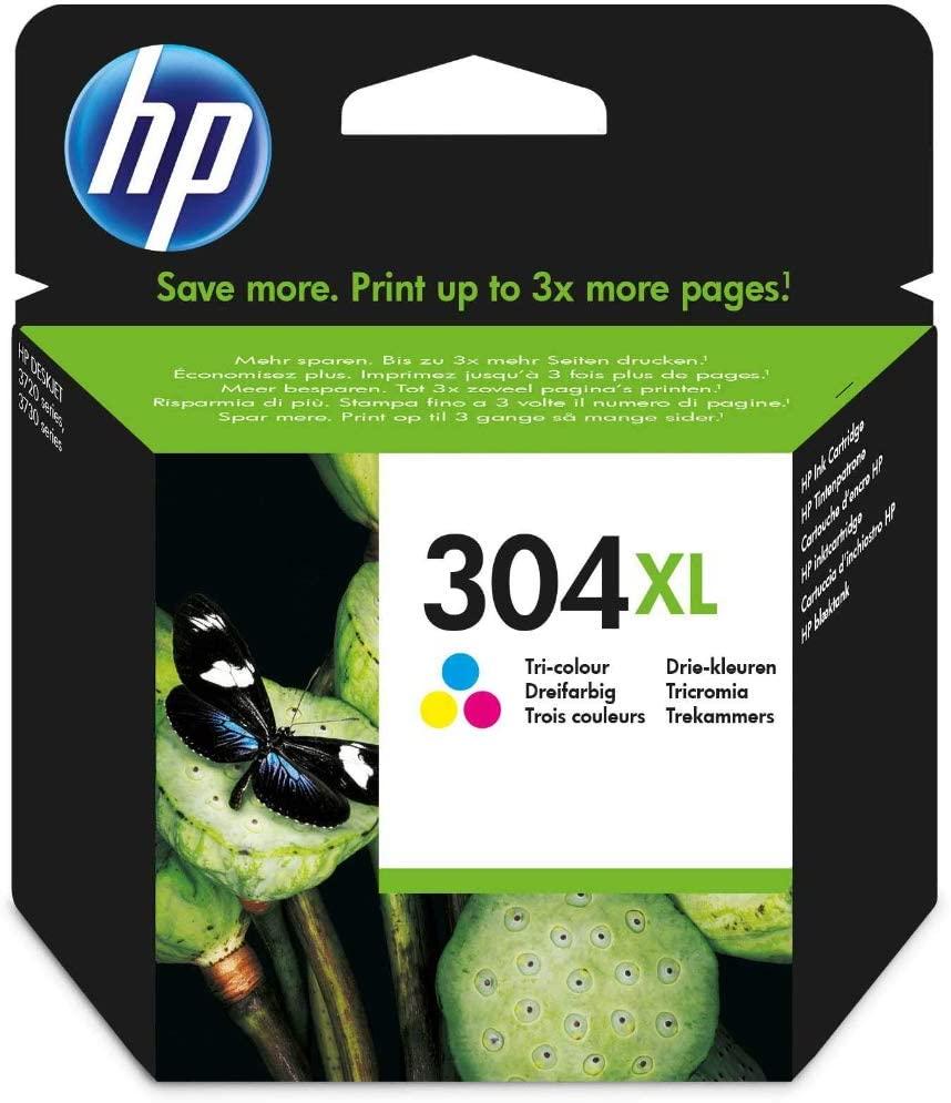HP 304XL Farbe Original Druckerpatrone mit hoher Reichweite für HP DeskJet 2630, 3720, 3720, 3720, 3