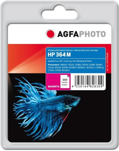 AgfaPhoto Tintenpatrone HP364M (magenta) kompatibel (für HP B8550, C5380, C6324, C6380, B010a, B109a