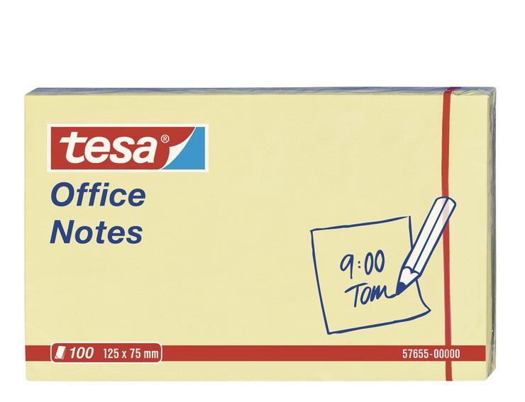 Vorschau: tesa Office Notes 100 Blatt, gelb 125mm x 75mm