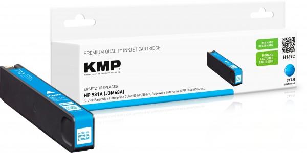 KMP H169C cyan Tintenpatrone ersetzt HP Page Wide Enterprise HP 981A (J3M68A)