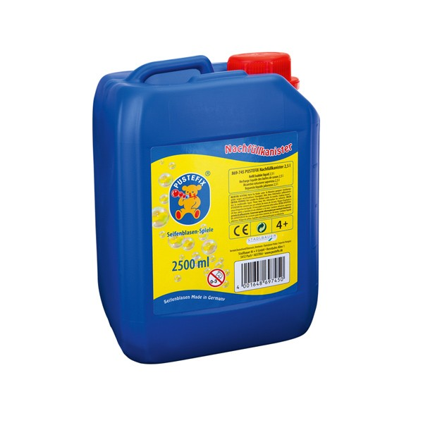 Pustefix – Nachfüllkanister – 2,5 L Seifenblasenflüssigkeit – Seifenblasen – Gebrauchsfertig Gemisch
