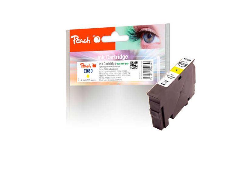 Peach Tintenpatrone kompatibel zu Epson T0804, yellow - PI200-143
