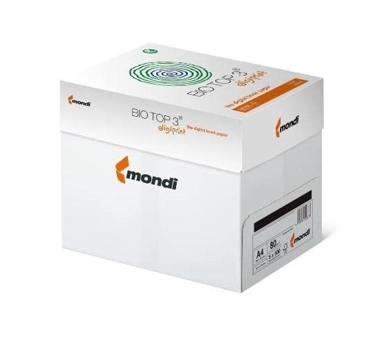 BioTop 3 Extra Kopierpapier 80g TCF von Mondi DIN A4 - 2500 Blatt