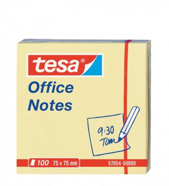 tesa Office Notes 100 Blatt, gelb 75mm x 75mm