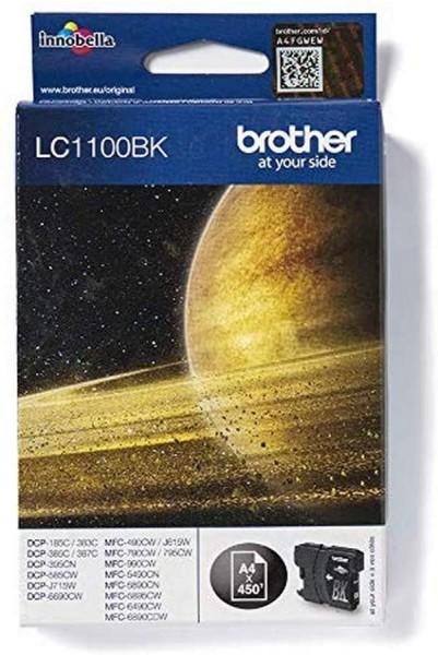 Brother Original Tintenpatrone LC-1100BK (black) (für Brother DCP-185C, DCP-383C, DCP-385C, DCP-387C